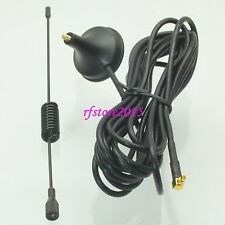 3G 3dBi MMCX male plug 90° GPRS GSM magnetic base Antenna for 3G USB Modem