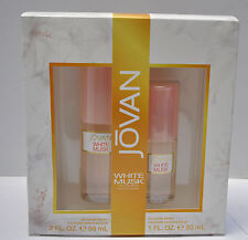 Jovan White Musk for Women 2 Pc Set: Cologne Spray 2 Oz and 1 Oz NEW