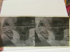 ancien plaque verre stereo photo paris quai d'anjou pont marie eglise st gervais
