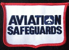 "AVIATION SAFEGUARD EMBROIDERED PATCH AIRPORT SECURITY COMPANY 4"" x  2 1/2"""