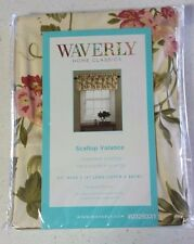"WAVERLY Napoli Cameo Scallop VALANCE Cream/Fruit 50""Wx15""L NEW in Package"