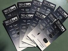 Sephora OPI Trend Tips Nails - Real Lacquer Strips - Black with Gold Flakes