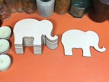 WOODEN ELEPHANT Shapes 12cm (x10) laser cut wood cutouts crafts shape blanks