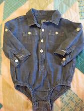 Baby Gap Chambray Long Sleeve Denim One Piece Bodysuit 12-18 month Girls