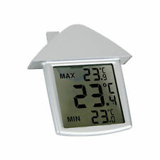 DIGITAL WINDOW KITCHEN THERMOMETER INDOOR OUTDOOR WEATHER STATION SUCTION CUP