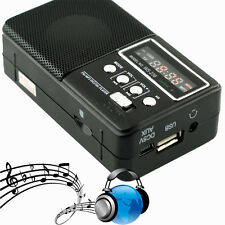 Clip Stereo Speaker FM Radio USB Disk Micro SD TF Card MP3 Music Player Black CC