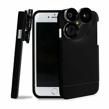 4in1 Wide Angle+Macro+TelePhoto+Fisheye Camera Lens Kits +Case For iPhone 7 Plus