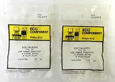 Philips ECG Component Low Power Sshottky 3 State Octal D Flip Flop Lot of 2
