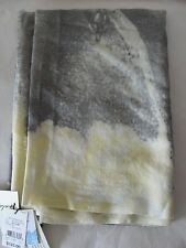 NWT $125 Lily and Lionel Men's Silk/Wool Scarf Wax Lemon