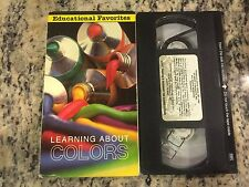 LEARNING ABOUT COLORS RARE OOP VHS! NOT ON DVD KIDS ART EDUCATIONAL CHILDRENS!