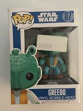 Funko Pop Star Wars GREEDO #07 Original RARE Retired Blue Box