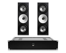 Amphion Two18 Passive 2-Way Monitor Speakers (Pair) w/ Amp500 Stereo Amplifier