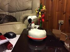Limited Edition Schmid Handpainted Snoopy Christmas 1980 Ceramic Music Box