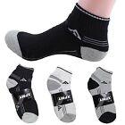 New 12 Pairs Ankle/Quarter Crew Mens Socks Cotton low cut 10-13 Sport Black LOT