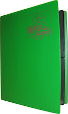 (10) BCW-MB-4P-MGN Green Trading Game Card Binders 4 Pocket Monster Protectors