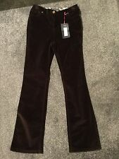 M&S Per Una Slim Boot cut Velour Jeans BNWT Size 10