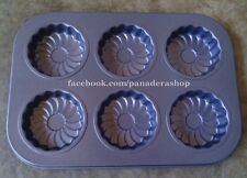 6 Holes Flower Muffin Cupcake Baking Pan Tray