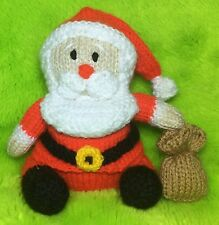 KNITTING PATTERN - Santa with Sack orange cover or 16 cms Father Christmas toy