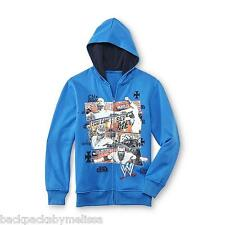 WWE John CENA Hoodie NeW Boy's 4/5 Zip-Up Blue Jacket CM Punk Rey Mysterio HHH