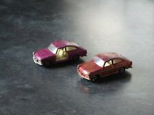 2 x Matchbox 1-75 Superfast No.67 Volkswagen 1600 TL (Pink)