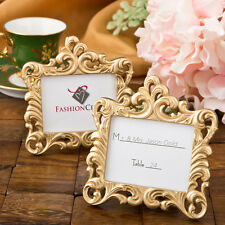 20 - Gold Baroque Style Place Card Holder Picture Frame - Wedding Favors
