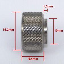 Manopola da assemblare, pomello, dado cieco Ø 4mm in acciaio inox  - ID 4665
