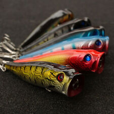 5PCS Fishing floating Lure Lures Saltwater Popper baits Triple Hook 9CM/14g