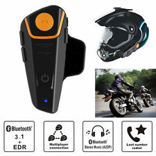 BT-S2 1X 1000m Bluetooth Motorcycle Motorbike Helmet Intercom Headset Waterproof