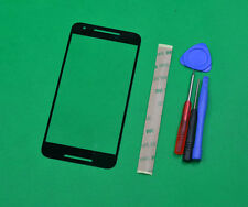 Black Front Panel Screen Glass Lens Replacement For LG Google Nexus 5X