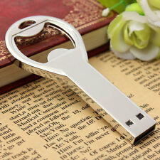 Metal 32GB USB 2.0 Waterproof Metal Key Bottle Opener Flash Memory Stick Pen
