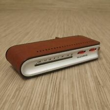Telefunken MATCH Transistor Radio 1963 Richard Sapper Italy Leather Vintage