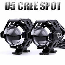2 PCS BLACK U5 CREE LED MOTORCYCLE HEADLIGHT FOG lAMP SPOTLIGHT FOR KAWASAKI