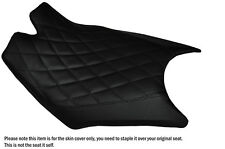 DIAMOND BLACK STITCH CUSTOM FITS KTM RC8  FRONT RIDER REAL LEATHER SEAT COVER