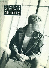 "GEORGE MICHAEL ""MONKEY"" PIANO/VOCAL/GUITAR SHEET MUSIC RARE 1987 BRAND NEW SALE!"