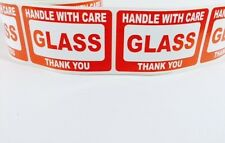 100 2x3 FRAGILE GLASS Self Adhesive Handle with Care Stickers Shipping Labels