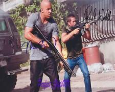 Vin Diesel Paul Walker Fast Furious 5 SIGNED AUTOGRAPHED 10X8 REPRO PHOTO PRINT