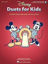 Disney Duets For Kids 10 Great Songs Vocal Duet LEARN TO Sing VOICE MUSIC BOOK