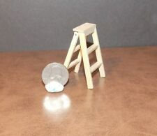 Dollhouse Miniature Wooden Step Ladder   Folding  1:12 1 inch scale  F4