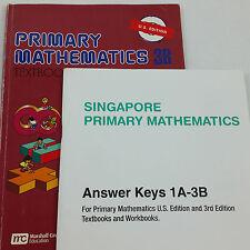 Singapore Math Primary Mathematics 3B TEXTBOOK US Edition and ANSWER KEY