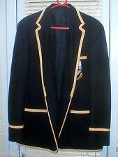 Blazer Para Hombre Talla 42 Negro canotaje en 100% lana.