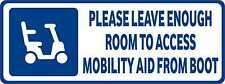 Disabled Sign Disability Mobility Scooter Car Parking STICKER / VINYL DECAL