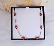 HONORA brown/bronze  Pearl Graduated Adjustable Bronze Station Necklace ESTATE
