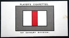 1st Cavalry Division  British Army   World War 1  B.E.F.    INSIGNIA CARD ## VGC