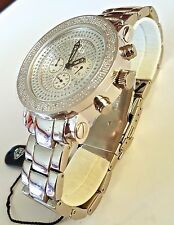 New Joe Rodeo Royalty Men's 1 Ct Diamond,Chronograph & Date Watch 3 Bands