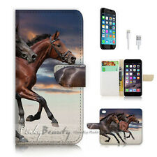 iPhone 7 (4.7') Flip Wallet Case Cover P2371 Horse