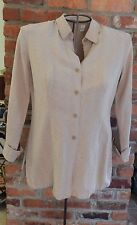 Real Clothes Silk/Linen Blouse in Sand size 10
