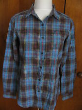 New w/tags UNI QLO women's flannel check long sleeve shirt size Small