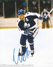 TORONTO MAPLE LEAFS WENDEL CLARK SIGNED 8X10 PHOTO W/COA WENDELL VINTAGE A