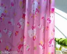 Hello Kitty Nylon Bathroom Shower Curtain with Hooks Pink KK196