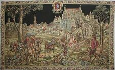"MEDIEVAL BRUSSELS, THE CAVALIERS 86"" 2.2M FULLY LINED TAPESTRY WALL HANGING"